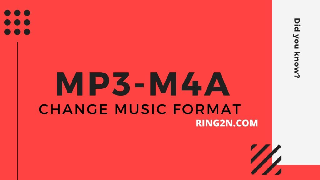 MP3 to M4A Change Music Format Android to iPhone